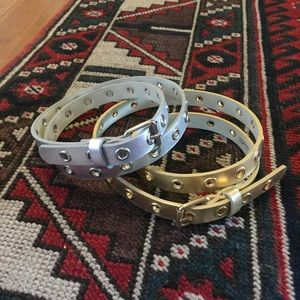 Pair of Metallic Belts Gild and Silver Small